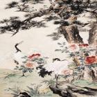 刺绣图案王雪涛国画花鸟作品
