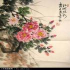 国画写意牡丹刺绣图案